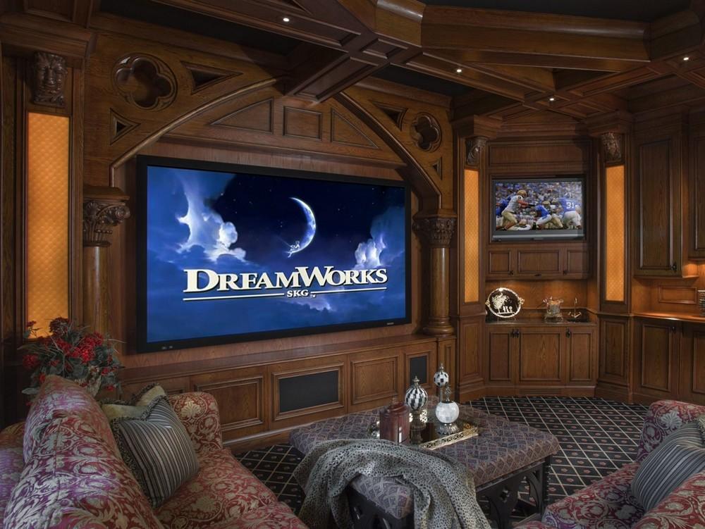 Домашний кинозал в частном доме